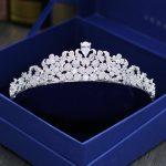 Paved CZ Crown Cubic Zircon Tiara Princess Tiaras <b>Wedding</b> Hair Accessories Bride Hair <b>Jewelry</b> Bijoux Cheveux Coroa WIGO1096