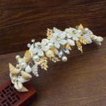 <b>Handmade</b> Beautiful Natural Shell Vine Bridal Tiara Headbands Bride Hair Ornaments Girl/Women Wedding Hair <b>Jewelry</b> Accessories