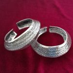 Guizhou ethnic style Miao personality <b>jewelry</b> <b>handmade</b> Miao silver wide bracelet Exaggerated faceted woven bracelet