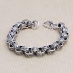 Retro Thai <b>Silver</b> Male Greek Circyle <b>Bracelet</b> Thai <b>Silver</b> Original Handmade <b>Silver</b> Jewelry 925 Sterling <b>Silver</b> Vintage Chain