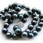 10mm black south sea shell pearl necklace 18″ AAA+ Fashion <b>Jewelry</b> <b>Making</b> Natural Stone Rope Chain