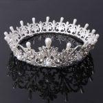 Baroque Crown Rhinestone Pearl Royal Vintage Bride <b>Wedding</b> Tiara Luxury <b>Jewelry</b>