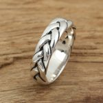 925 sterling silver <b>jewelry</b> <b>handmade</b> Vintage Mens twist ring personality preparation