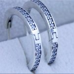 100% 925 sterling silver earring round letter circle crystal earrings for Brand style thread charms bead pattern women <b>jewelry</b>