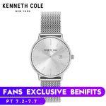 Kenneth Cole Couple Women Watches <b>Bracelet</b> Watch Ladies KC15057004 Quartz Black <b>Silver</b> Steel Strap Luxury Brand Couple Watches