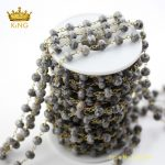 5meters 5x8mm Map Stones Faceted Rondelle Loose Beads Chains Making Necklace,Cut Jaspers Rosary Chains <b>Fashion</b> <b>Jewelry</b> ZJ233
