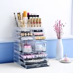 Cosmetic Holder Big size transparent box <b>Fashion</b> cosmetics drawer <b>Fashion</b> Acrylic Cotton Swab Organizer Box L51