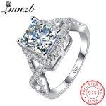90% OFF!!! LMNZB Luxury 100% 925 <b>Sterling</b> <b>Silver</b> Rings for Women Wedding Engagement Acessories Cubic Zirconia <b>Jewelry</b> LR065