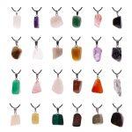 60pcs Men women irregular fashion <b>jewelry</b> Lucky Moonstone Natural Stone Amulets Pendants <b>necklace</b> gift #276860