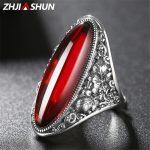 ZHJIASHUN Vintage Thai <b>Silver</b> Big Stone Rings for Women 925 Sterling <b>Silver</b> Ring Wedding Engagement <b>Jewelry</b>