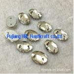 Crystal Clear Sew on Rhinestone Button 60pcs 17x24mm Oval 2 Holes Sewing Fancy Stones <b>Jewelry</b> <b>Making</b>