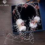 CC Headbands Hairbands Fairy Feather Forest Style <b>Handmade</b> Beads Hair Accessories For Women Bride Girls <b>Jewelry</b> Romantic XY076