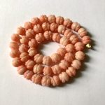Wholesale 1Strand Natural Pink Coral Beads Flower Craved 8mm Hand Craft Bead For <b>Jewelry</b> <b>Making</b> Beads 15.5″