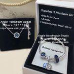 6pcs Fashion <b>Jewelry</b> Set S925 Silver Blue Sky Series CZ Dangle Charm and Bracelet Necklaces Set <b>Jewelry</b> <b>Making</b> Woman Gift
