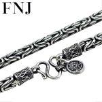 Thai <b>silver</b> 990 <b>Sterling</b> <b>Silver</b> sea rover chain necklace men <b>jewelry</b> 100% Pure solid <b>Silver</b> necklaces Corsair N05