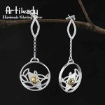 Artilady lovely 925 sterling silver earrings <b>handmade</b> ladybird design sterling silver earrings women <b>jewelry</b> christmas gift