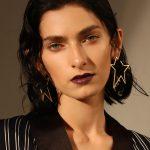 Enfashion <b>Jewelry</b> Geometric Big Star Earrings Gold color Stainless steel Long Drop Earrings For Women Earings EB171038