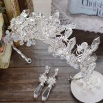 high-grade crystal crown <b>jewelry</b> <b>handmade</b> beaded wedding hair accessories European bride headdress