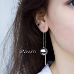 eManco Minimalist Beads Drop Earrings for Women Pearl& Acrylic Pierce Hanging Sliver Earrings 2018 <b>Fashion</b> <b>Jewelry</b> Wholesale