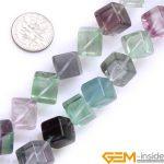Fluorite:6mm Cubic Shape Natural Fluorite Beads Strand 15″ DIY Loose Beads For <b>Jewelry</b> <b>Making</b> Beads Wholesale !