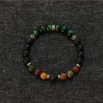 925-Sterling-Silver Men Bracelet <b>Jewelry</b> Stretch Bracelet,Handmade Green Tiger Eye Skull Bracelets Men <b>Jewelry</b> <b>Accessories</b>