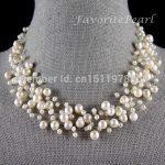 Pearl Necklace Bridesmaid <b>Wedding</b> <b>Jewelry</b> Multistrand Necklace Floating Illusion Genuine Pearl <b>Jewelry</b> – Free Shipping