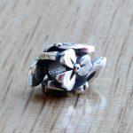 Troll Mountian Wild Cher Beads 925 Sterling <b>Silver</b> Charms Fit European DIY Original Troll 3.5mm Bracelet & <b>Necklace</b> Gift Jewelry