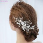 Jonnafe Gorgeous <b>Handmade</b> Silver Hair Vine Bridal Comb Rhinestone Wedding Hair Piece Accessories Women Prom <b>Jewelry</b>