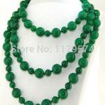 Charming fashion 8-12mm 2017 new Green Chalcedony Round Beads Necklace Fashion <b>Jewelry</b> <b>Making</b> Design Accessory Parts 50″ W0351
