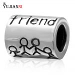 Friend Charms Beads <b>Antique</b> 925 Sterling Silver DIY <b>Jewelry</b> Making For European Woman Snake Chain Bracelets
