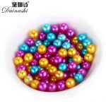 10pcs/lot 6-7MM Near Round AAA Genuine Freshwater Oyster Pearls Loose Charm Dyed Beads Wholesale <b>Jewelry</b> <b>Making</b> Beads For DIY