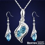 Hot Sell Heart <b>Jewelry</b> Sets Earrings <b>Necklaces</b> Pendants Crystals from Swarovski Conjunto Collar Y Pendientes