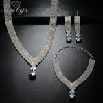 Mytys Flat Crystal <b>Jewelry</b> Sets White Gold Color Fashion Ball Party High Quality Jewellery Sets Gift for Women CN329