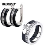 2018 U Ben Shape Earrings and Rings Wedding <b>Jewelry</b> Sets Inlay Luxury Crystal Bridal Ceramic <b>Jewelry</b> Set Gifts For Bridesmaids