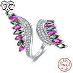 J.C Fine <b>Jewelry</b> Women Ruby Sapphire Emerald Blue Garnet Morganite Peridot Topaz Solid 925 <b>Sterling</b> <b>Silver</b> Ring Size 6 7 8 9