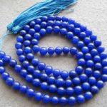 Tibetan <b>handmade</b> <b>jewelry</b> 108 Lapis lazuli Beads Buddhist Prayer Mala Necklace 8mm silver
