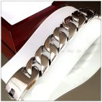 9″*31mm Very Heavy Men's <b>Bracelet</b> 316L Stainless Steel <b>Silver</b> Curb Cuban Chain Highly Polished Male Jewelry Gift High Quality