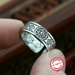 S925 sterling silver men's ring <b>handmade</b> personality classic retro style creative craft woven styling to send love <b>jewelry</b> gift