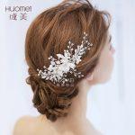 Beautiful Bride Headwear Wedding Dress Hair Comb New Pattern Marry Ornaments Gorgeous Bridal Accessories Elegant Hair <b>Jewelry</b>