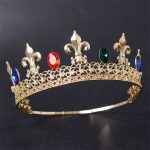 Adjustable Magnificent Crystal Men Crown Pageant Prom Head Kings Diadema Headdress Tiaras and Crowns Hair <b>Jewelry</b> Accessories
