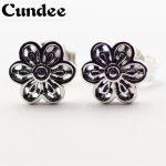Fits European <b>Jewelry</b> Earrings for Women DIY <b>Making</b> 925 Sterling-Silver-<b>Jewelry</b> Floral Daisy Lace Silver Stud Earring