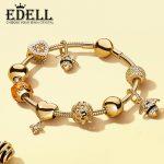 EDELL 100% 925 Sterling <b>Silver</b> Brand New <b>Bracelet</b> Set Vibrant Bee & Love Hive <b>Bracelet</b> Set Personality <b>Bracelet</b> Set For Gifts