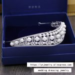 Fashion luxurious crystal shell pearls CZ zircon Princess crown <b>wedding</b> bride dinner banquet Beauty tiaras <b>jewelry</b> free shipping