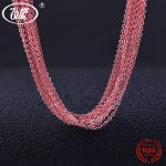 WK Lots Bulk Rose Gold Color 925 <b>Silver</b> Chain <b>Necklace</b> 5 10 20 50 100 PCS LOT Wholesale 1MM Link Chain <b>Necklace</b> 18 5PCS NA007