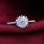 18K White Gold 0.10+0.16ct Diamond Women Ring Wedding Band Engagement <b>Jewelry</b> <b>Handmade</b>