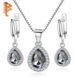 BELAWANG Genuine 925 Sterling Silver Clear CZ Cryatal Women <b>Jewelry</b> Sets High Quality Engagement Wedding <b>Jewelry</b> Sets <b>Making</b>
