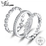JewelryPalace <b>Fashion</b> 2.15ct Cubic Zirconia 3 Eternity Band Rings For Women Pure 925 Sterling Silver Ring Real Silver <b>Jewelry</b>
