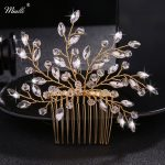 Miallo Austrian Crystal Branches and Leaves Hair <b>Jewelry</b> Wedding Party Women Hair Comb <b>Fashion</b> Hair Clips Bride Accessories