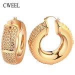 CWEEL Women Big Hoop Earrings for Bridal <b>Fashion</b> Wedding Classic Trendy Casual Bohemian Party Vintage Arab Nigerian <b>Jewelry</b>