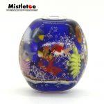 Mistletoe 925 Sterling <b>Silver</b> 3D Animals Fish Blue Ocean Murano Glass Charm Bead Only Fit European Troll 3.0 <b>Bracelet</b> Jewelery